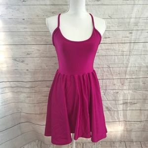 American apparel nylon tricot pink skater dress